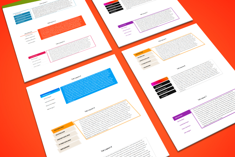 Divi Vertical Tabs Layout Pack